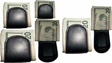 6 New Leather Money Clip, magnetic money clip, Holds a stock of bills BNWT
