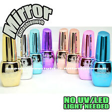 Santee 8 Full Color Mirror Effect Metallic No UV / LED Nail Polish Bold Lacquer