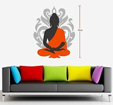 Asmi Collections Wall Stickers Beautiful God Buddha-AS055 (Small)