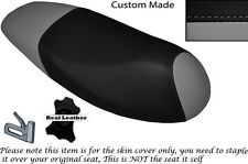 BLACK & GREY CUSTOM MADE FITS SYM JET 4 125 DUAL LEATHER SEAT COVER