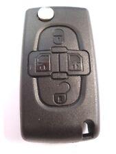 De rechange 4 boutons gousset clé amovible pour Peugeot 807 1007 à distance