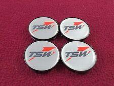 TSW Wheels Silver Custom Wheel Center Caps Set of 4 # BPER