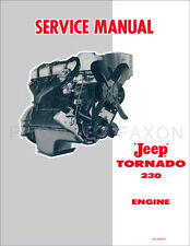 Jeep Tornado 230 Engine Shop Manual 1962 1963 1964 1965 Pickup Station Wagon
