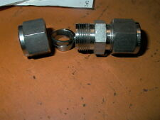 """CRAWFORD SWAGELOCK 316 STAINLESS STEEL 1/2"""" O D COUPLING"""