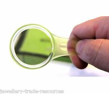 3x - 5x Hand Held Magnifier Magnifying Eye Glass For Reading or Hobby 40mm Lens