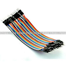 Durable 40pcs Dupont 10CM Male To Male Jumper Wire Ribbon Cable for Breadboard C
