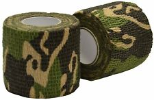 5CM X 4.5 METRES WOODLAND CAMO WRAP RIFLE/GUN HUNTING CAMOUFLAGE STEALTH TAPE