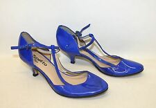 REPETTO Ladies Royal Blue Patent Leather Kitten Heel Mary Jane Shoes UK6 EU39