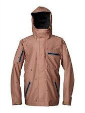 2014 NWOT QUIKSILVER DREAMING 15K SHELL SNOWBOARD JACKET M $240 BROWN DEER