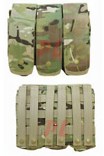 MOLLE 7.62mm 5.56mm TRIPLE Mag Pouch Magazine Close Flap Pouch Pals-MULTICAM