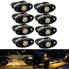 "8PCS 2"" Amber CREE LED Rock Light JEEP Wrangler Off-Road Under Wheel Rig Lights"