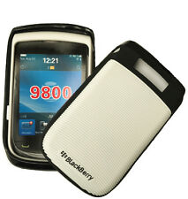 STONG HARD CASE COVER FOR BLACKBERRY 9800 / BOLD 9900 9930 WHITE & BLACK