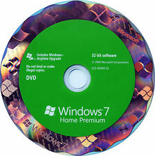 Genuine Windows 7 Home premium SP1 32 bit Full Version DVD and Product Key COA