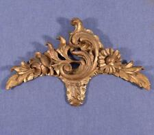 """*14"""" French Louis XV Deeply Carved Antique Gilt Pediment/Crest (3 AVAILABLE)"""