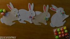 Easter White & Tan Bunny Shaped Table Runner / Placemat 13x48 in NWT