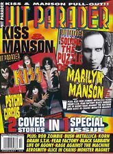 2/99 HIT PARADER magazine KISS cover Marilyn Manson Metallica Alice In Chains