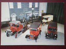 POSTCARD  4 DIFFERENT VANS - BRITISH COMMERICAL VEHICLE MUSEUM