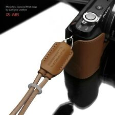 GARIZ Leather Wrist Strap Natural Brown XS-WB5 m43 Sony NEX Olympus Lumix Fuji
