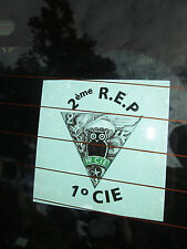 French Foreign Legion Etrangere 2 REP-1 cie 2 x Stickers glass