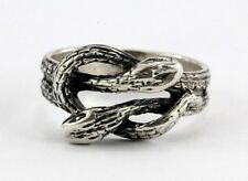 Vintage Sterling Silver Gothic Entwined Snakes Lovers Knot Ring