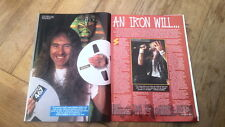 IRON MAIDEN 'Iron will'  4 page UK ARTICLE / clipping 1993