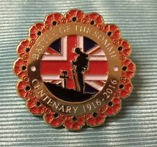 BATTLE OF THE SOMME CENTENARY POPPY LAPEL BADGE