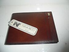 BLOCK NOTES NINA RICCI IN PELLE MARRONE-NOTE PAD BROWN GENUINE LEATHER
