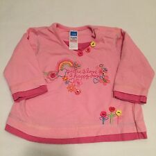 Adams pink long sleeved floral top Baby girls clothes 3-6 Months -I combine post