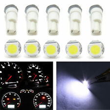 10x T5 37 73 74 Wedge Instrument Dash 1 SMD LED Light Bulb Lamp White For Toyota