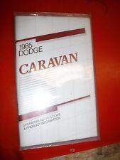 1985 DODGE CARAVAN ORIGINAL FACTORY OPERATORS OWNERS MANUAL CLEAN