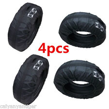 "Universal 4× Wheel Tyre Storage Carry Bag Cover 13""-19"" Universal Spare Seasonal"