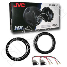 VW Lupo FOX New Beetle Lautsprecherringe 165mm KFZ Adapter JVC 4-Wege System SET