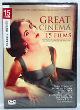 Great Cinema -15 Films (Classic Movies on 2 double-sided discs, DVD) BRAND NEW!