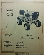 Sears Suburban SS/16 Garden Tractor Owners, Parts & Onan BF Service (2 Manuals )