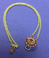 14K SLIDE BRACELET WITH RUBY CLASP - KLJCI - KLEIN