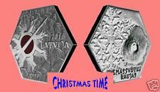 5 Euro 2016 SILVER COIN Latvia LETTLAND Christmas battles military order PROOF