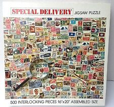 """POSTAGE STAMPS Puzzle """"SPECIAL DELIVERY"""" 500 piece jigsaw puzzle"""