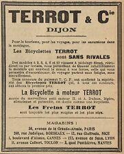 Y8242 Biciclette a motore TERROT - Pubblicità d'epoca - 1907 Old advertising