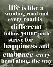Inspirational/Motivational Poster/Life is like a winding road/Sayings/Quotes