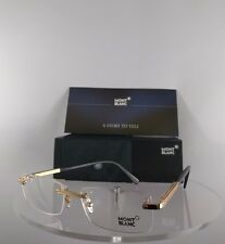 New Authentic MONT Blanc MB 0545 030 Eyeglasses Gold MB545 Frame