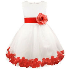 DH Wedding Flower Girl's Dress Flower Pageant Dress Up for Babygirl