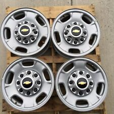 """8 LUG 17"""" CHEVY TRUCK STEEL WHEEL RIMS WITH CHEVY CENTERS"""