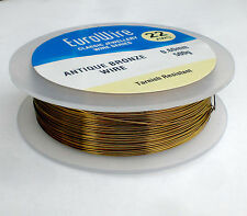 ANTIQUE BRONZE coloured COPPER WIRE 0.6mm 22 GAUGE  500grams - HIGH QUALITY 198m