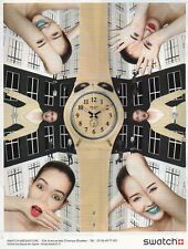 Publicité Advertising 2013  Montre SWATCH  collection mode