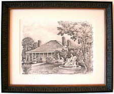 Australian Artist Cedric Emanuel.s print titled 'The Home of Norman Lindsay'.