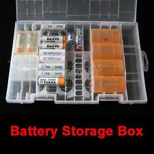 Rack Transparent AA AAA C D 9V Hard Plastic Battery Case Holder Storage Box
