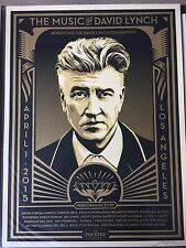 """Shepard Fairey """"The Music of David Lynch"""" Poster Print Obey Twin Peaks"""