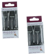 Lot of 48 Mozaik Mini-Tasting Forks Cocktail Party Appetizers Silver