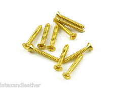 24k Gold Short Humbucker Ring Screws 10pcs fits Gibson Les Paul Neck Pickup ring