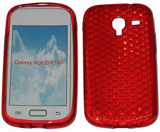 For Samsung Galaxy Ace 2 GT i8160 Pattern Gel Jelly Case Protector Cover Red UK